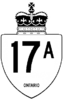 Highway 17A shield