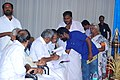 Oommen Chandy receives memorandum about S.R.V school.jpg