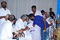 Oommen Chandy receives memorandum about S.R.V school.jpg