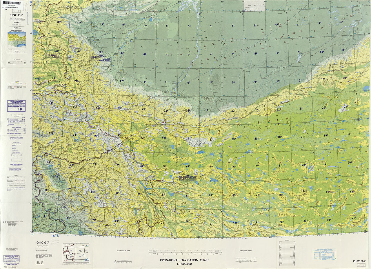 Aviation Charts: Operational Navigation Chart G-7 6th edition.jpg - Wikimedia ,Chart