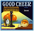 Orange crate label, Good Cheer Brand, Western Litho. Co . (16737087015).jpg