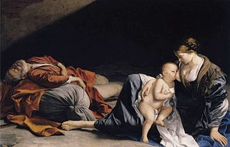 Rest on the Flight into Egypt - Orazio Gentileschi, 1625–1626