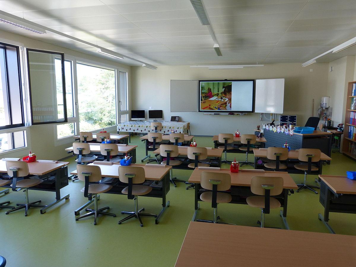 Salle de classe wikip dia for Bureau tableau 2 en 1