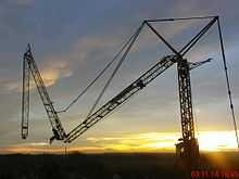 Hitchhiker's Guide to the Galaxy on Hammerhead crane