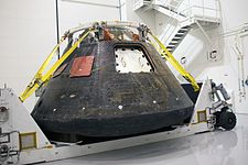 Orion spacecraft after EFT-1 at KSC (KSC-2014-4879).jpg