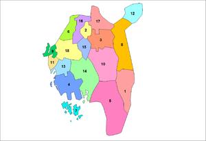 Østfold - Municipalities of Østfold