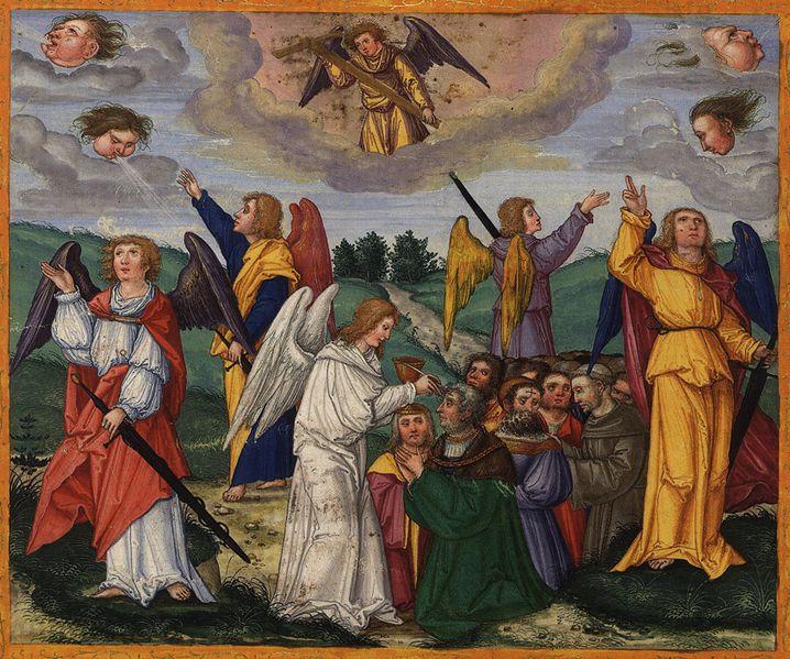 Откровение, Глава 7, 1-8. Своболное изображение Википедии.