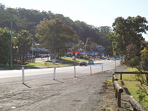 Ourimbah, New South Wales - Shops along the Pacific Highway at Ourimbah.