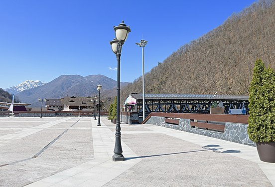 Outfitted plaza in the mountain resort.jpg