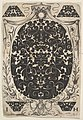 Oval Pendant Decorated with Schweifwerk, Surrounded by Smaller Motifs and Crowned by a Baldachin MET DP826394.jpg