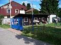 Písnice, Švihovská, hřiště, bouda u vstupu.jpg