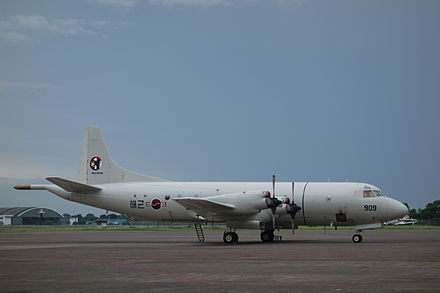 A ROKN P-3 Orion taking part in searching for Indonesia AirAsia Flight 8501 P-3 ROK-Jakarta.JPG