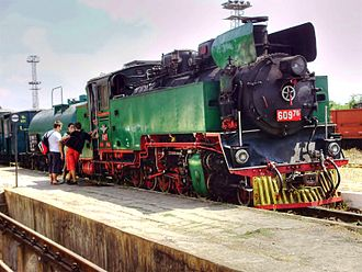 Septemvri–Dobrinishte narrow-gauge line - 60976 at tourist train