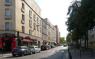 Rue Brancion Street in Paris, France