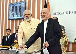 Afghanistan–India relations - Indian Prime Minister Narendra Modi and Afghan President Ashraf Ghani inaugurating the Salma Dam.