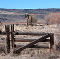P Ranch beef wheel and gate - Frenchglen Oregon.jpg