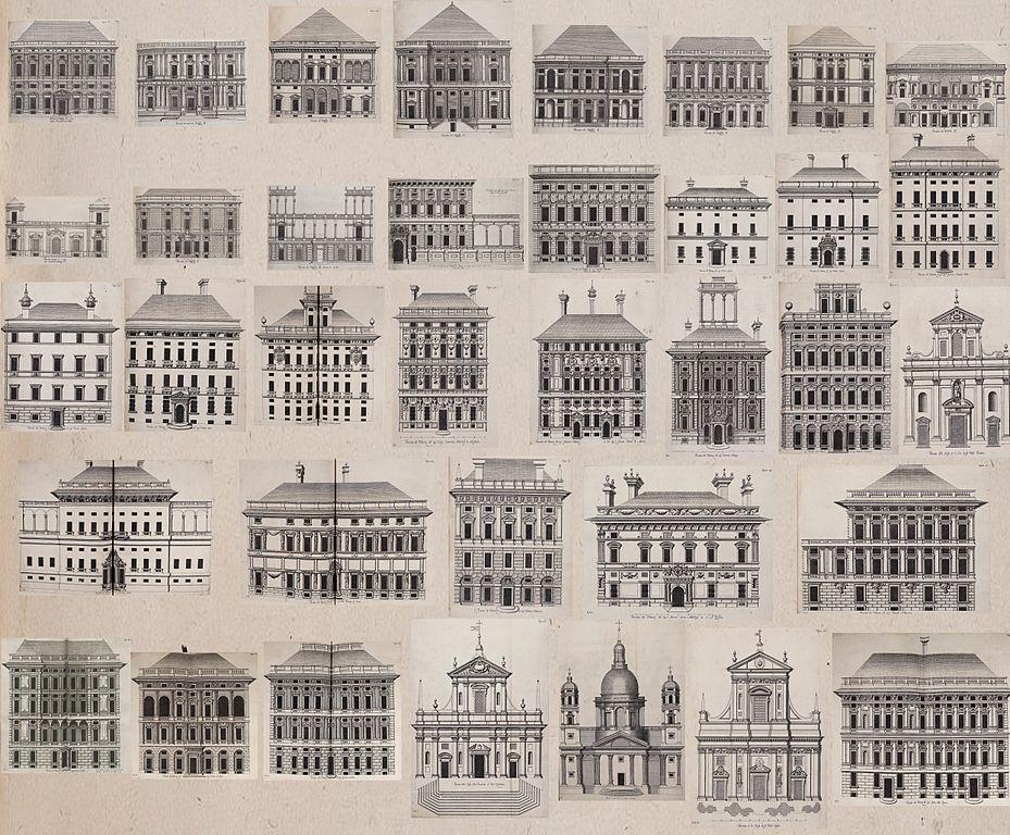 Palais de Gènes dessiné par Rubens en 1622