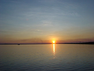 Sunset on the Rio Tocantins in Palmas