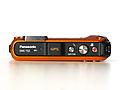 Panasonic Lumix DMC-TS3 (orange, top view).JPG