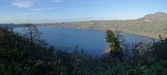 Lake Albano - The lake.