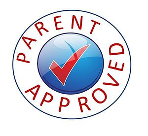 English: Parent Approved mark for use on the a...