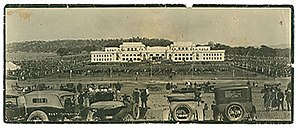 Canberra - The opening of Parliament House in May 1927.