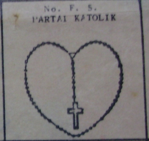 Catholic Party (Indonesia) - Image: Partai katolik symbol on 1955 ballot paper