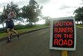 Participants run in the 6th annual Hickam Half-Marathon at Joint Base Pearl Harbor-Hickam, Hawaii, Aug. 11, 2012 120811-N-RI884-036.jpg