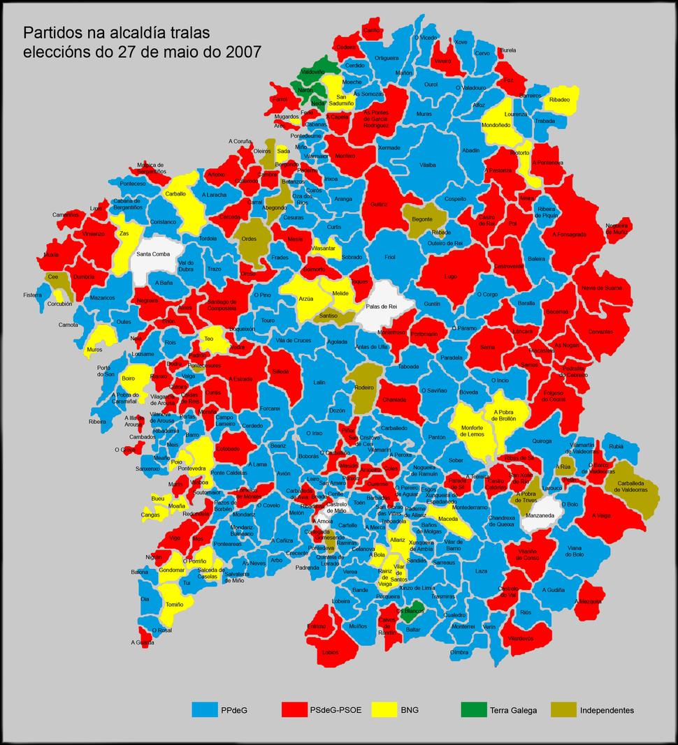 Partidos na Alcaldía 2007