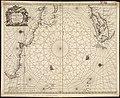 Pascaerte van t westelyckste deel vande Spaense Zee, tuschen Brasil, de zoute en Vlaemse eylanded, en voorwestwart (6012077615).jpg