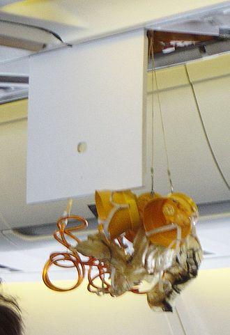 Emergency oxygen system - Oxygen masks dropping