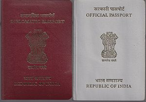 Cabinet Secretary of India - An Indian Diplomatic Passport and an Official Passport generally issued to the Cabinet Secretary of India.