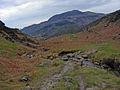 Path crossing a small stream, Cwm Bychan - geograph.org.uk - 1382541.jpg
