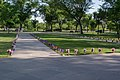 Path of bouquets 02 - DC War Memorial - Memorial Day - Washington DC - 2014.jpg