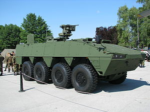 Patria AMV - Croatian Patria AMV armed with a Protector remote weapon station