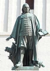 Denkmal vor der Paul-Gerhardt-Kirche in Lübben (Quelle: Wikimedia)