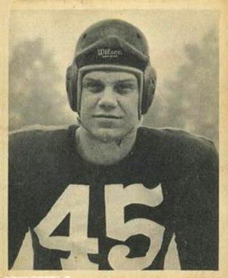 Paul McKee (American football) - McKee on a 1948 Bowman football card