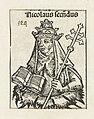 Paus Nicolaas II Nicolaus secundus (titel op object) Liber Chronicarum (serietitel), RP-P-2016-49-67-7.jpg