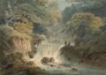 Paysage à la cascade à Goathland, Yorkshire.png