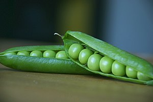 Peas in pods.