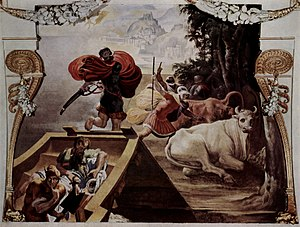 The Cattle of Helios - The Companions of Odysseus Steal the Cattle of Helios (fresco by Pellegrino Tibaldi, 1554/56)