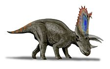 Illustration av Pentaceratops.