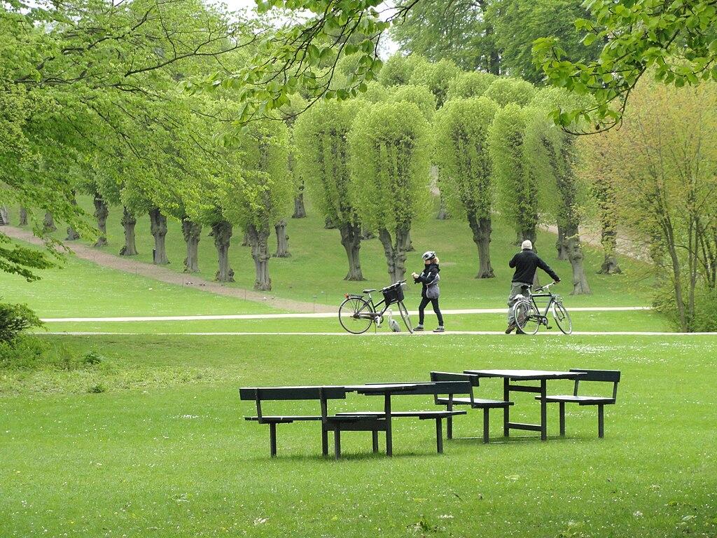 Jardin de Frederiksberg à Copenhague.