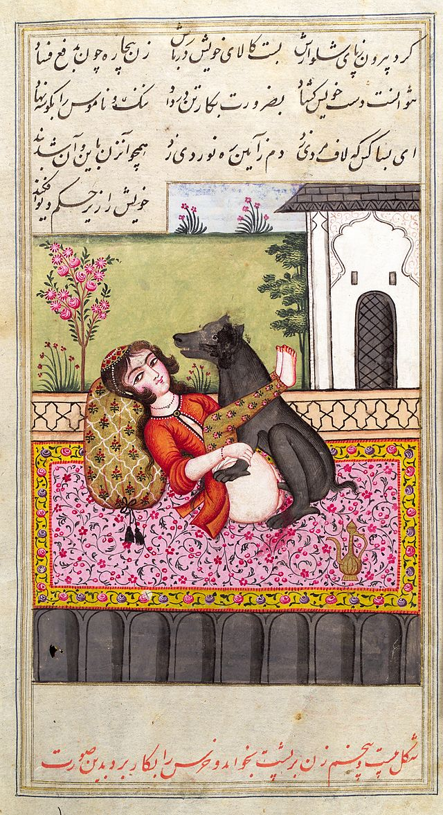 Bild aus dem Karma Sutra, evtl. auch eine Ausgabe aus Persien
