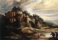 Peter Paul Rubens - Landscape with the Ruins of Mount Palatine in Rome - WGA20394.jpg
