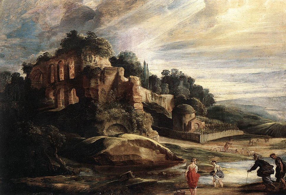 Peter Paul Rubens - Landscape with the Ruins of Mount Palatine in Rome - WGA20394