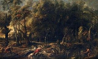 Atalanta and Meleager Hunting the Calydonian Boar