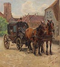 Peter Tom-Petersen, Bryllupskareten, Ribe, 1890, RKMm0157, Ribe Kunstmuseum.jpg