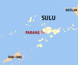 Map of سولو with Parang highlighted