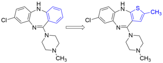 Bioisostere - A phenyl for methylthiophene bioisosteric replacement